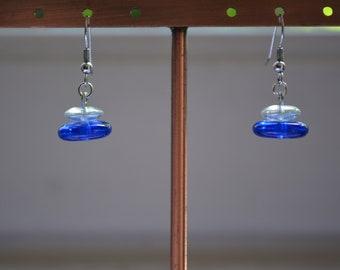 Earrings - ancient enamels and Rousselet pearls, Jeanne Danjou. Paris