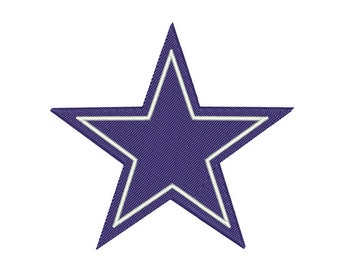 Dallas Star NFL Embroidery Design - Resizable, 19 formats