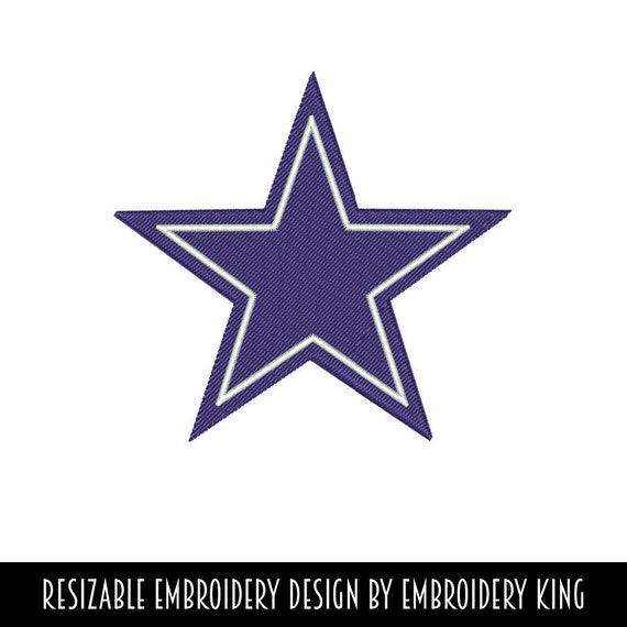 Dallas Star Nfl Embroidery Design Resizable 19 Formats