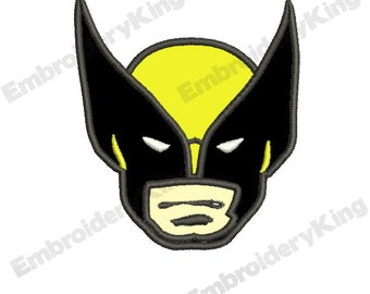 Wolverine X-Men Embroidery Applique Design