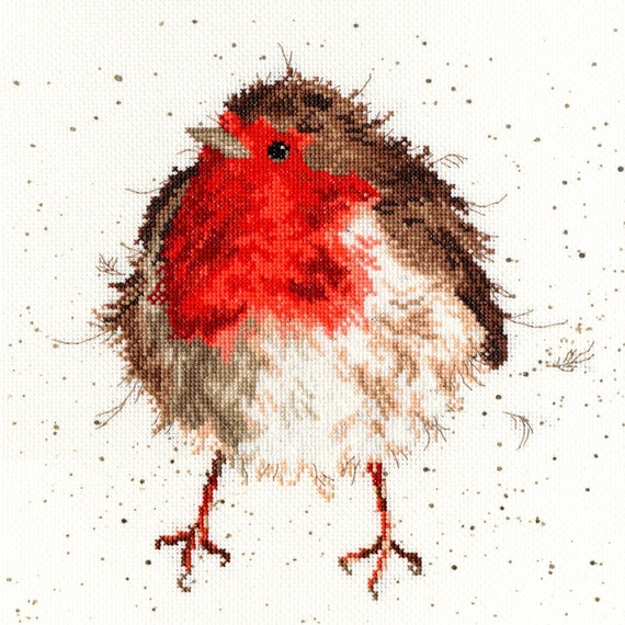 Bothy Threads Birds on a Branch Needlework Kit Counted Cross Stitch Full Kit Rockin/' Robins by Hannah Dale of Wrendale Designs