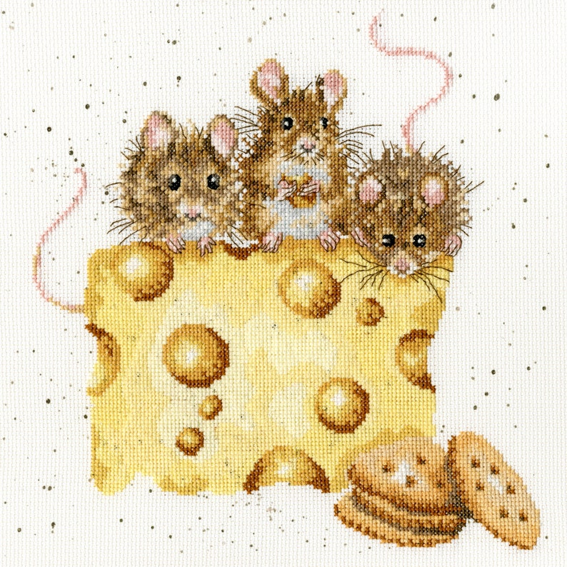 NEW ~ Bothy Threads ~ Counted Cross Stitch Kit ~ Crackers about Cheese ~ XHD53