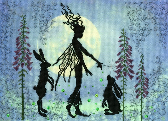 BOTHY THREADS XE10P  ENCHANTED  RENDEZVOUS  COUNTED CROSS STITCH KIT