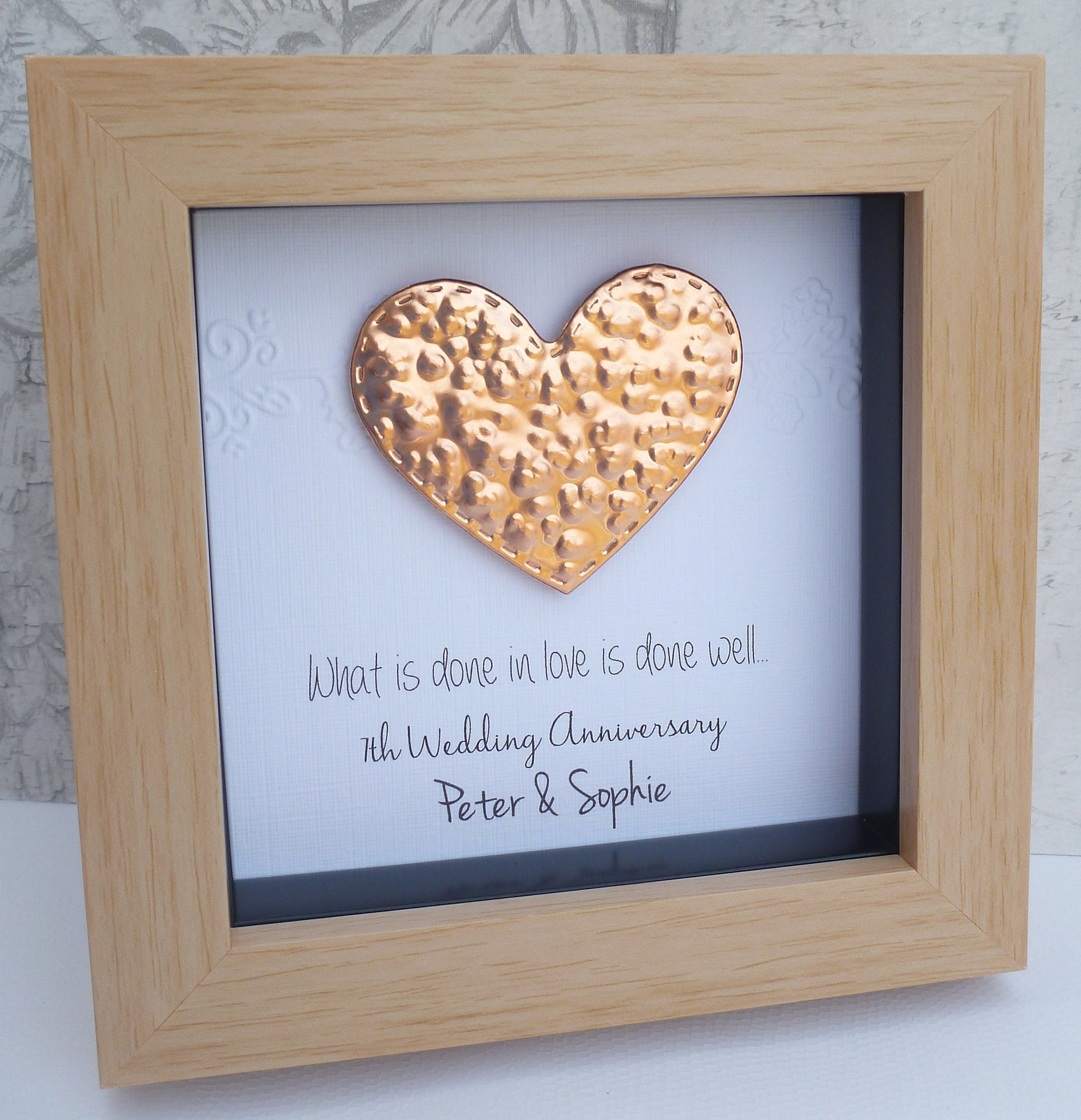 Gift For 7th Wedding Anniversary: Copper Anniversary Gift 7th Wedding Anniversary Gift 7th