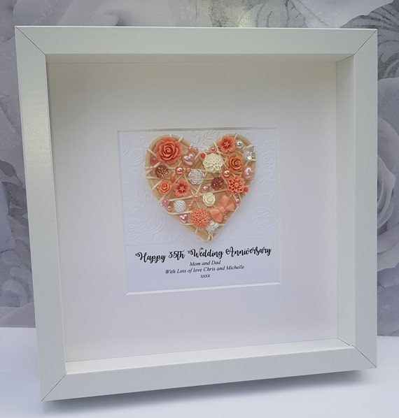 35th Anniversary Gift 35th Wedding Anniversary 35th Coral Etsy