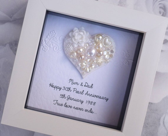 30th Wedding Anniversary Gift 30th Anniversary Gift Pearl Etsy