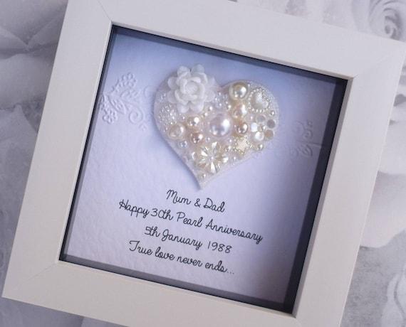 30 Hochzeitstag Geschenk 30 Jahrestag Geschenk Pearl Etsy