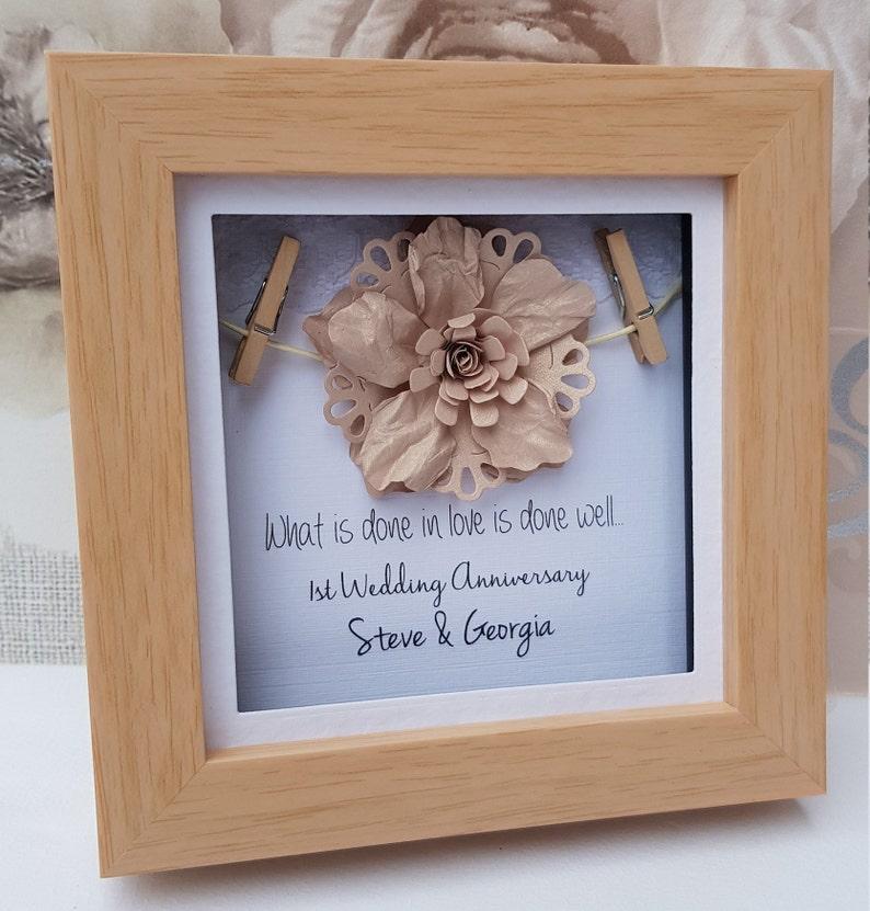 1st anniversary gift 1st wedding anniversary gift paper image 0