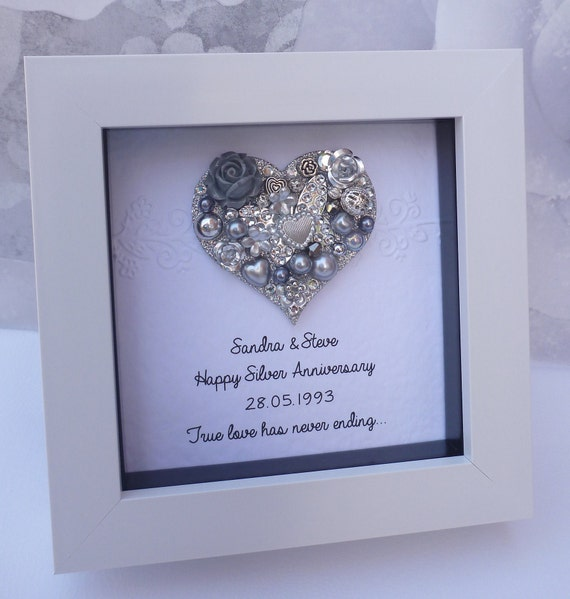 25th Anniversary Gift 25th Wedding Anniversary Gift25th Etsy