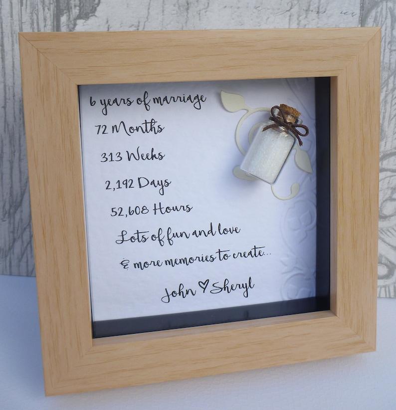 6 Year Anniversary Gift 6th Wedding Anniversary Gift Sugar Etsy
