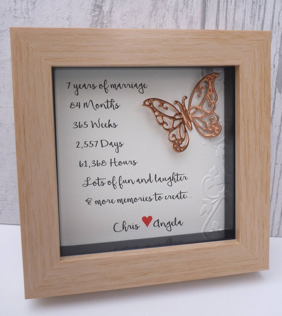 7th Wedding Anniversary Traditional Gift: 7th Wedding Anniversary Gift Copper Anniversary Gift 7th