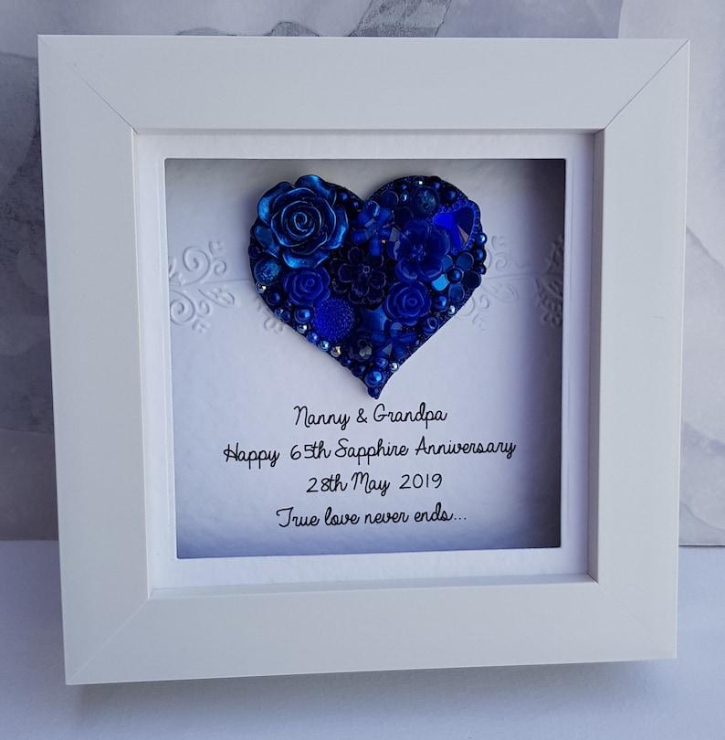 3b3c4aa98 45th wedding anniversary gift 45th anniversary gift sapphire | Etsy