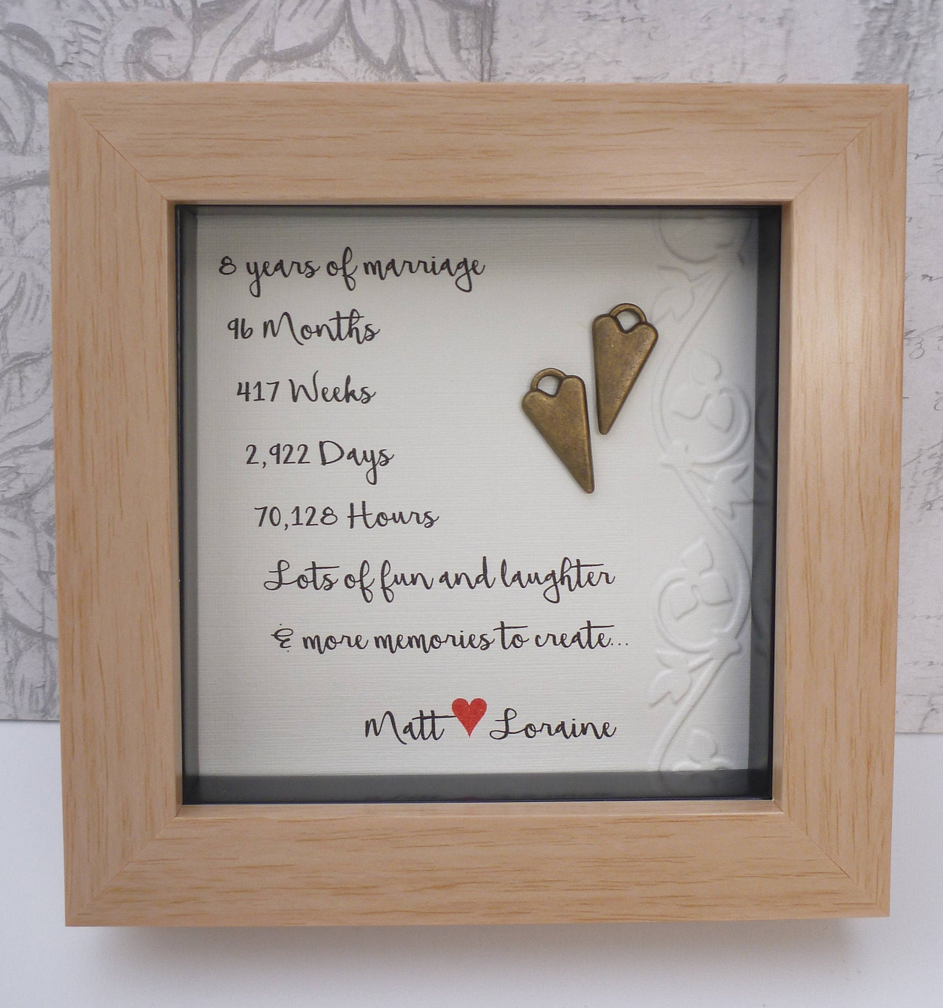 Gift Ideas For 8th Wedding Anniversary: 8th Wedding Anniversary Gift 8th Bronze Anniversary Bronze