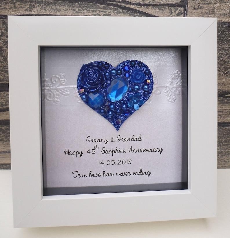65th Wedding Anniversary Gift 65th Anniversary Gift Sapphire Etsy
