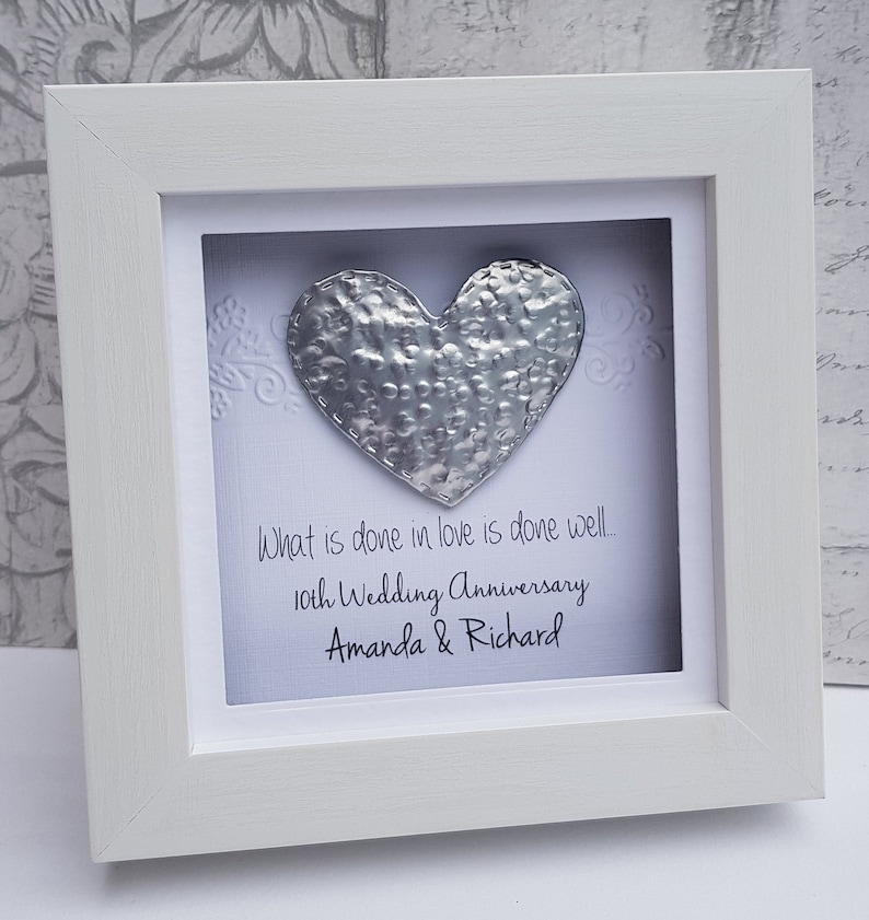 10th Anniversary Gift10th Tin Wedding Gift 10th Anniversary Etsy