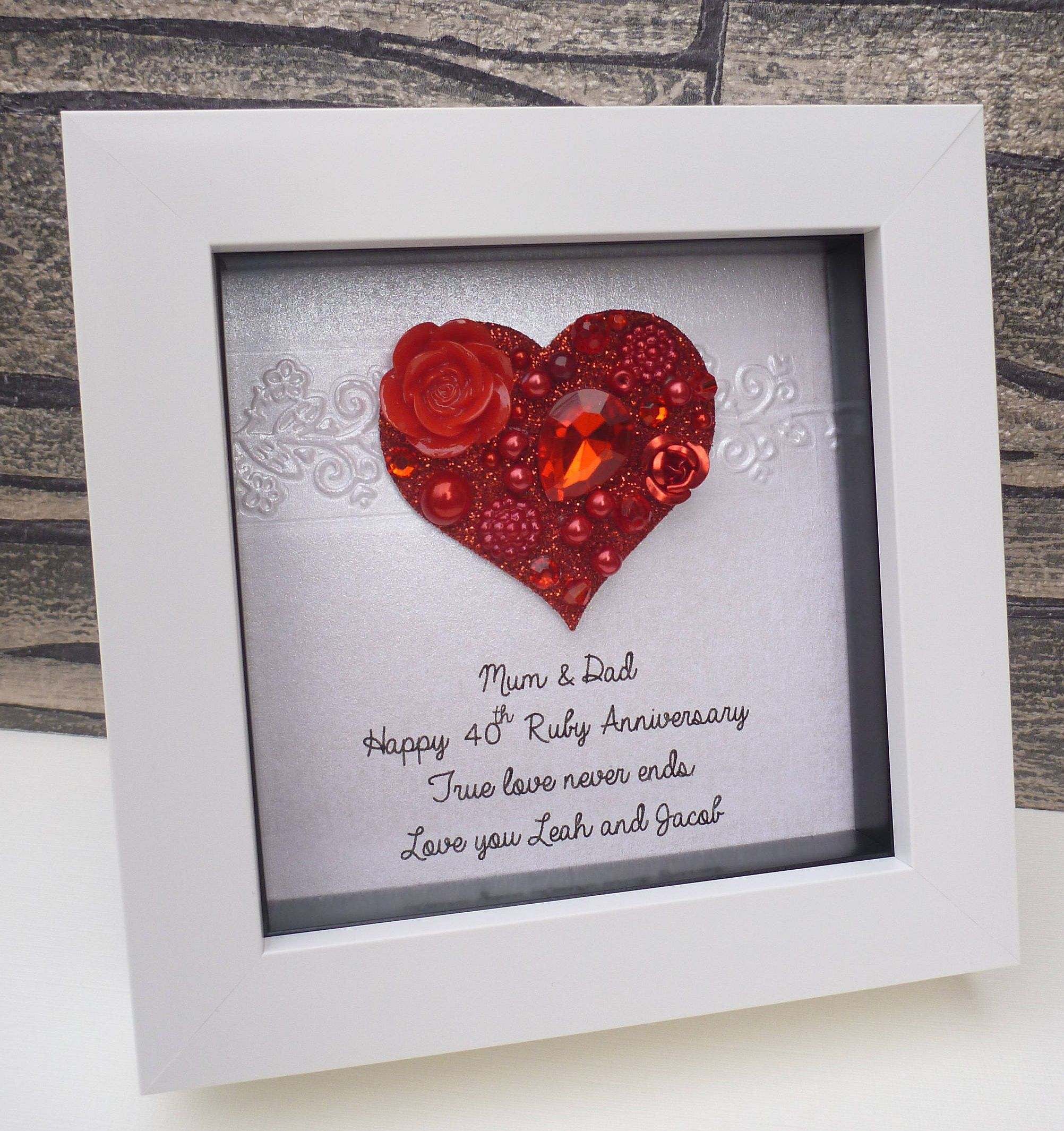 Ruby anniversary gift 40th wedding anniversary 40th | Etsy