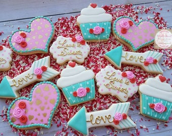 Love is Sweet Valentine's day cookies