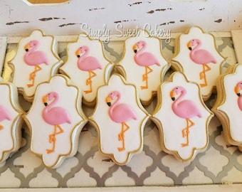 Pink Flamingo Cookies (48 cookies)