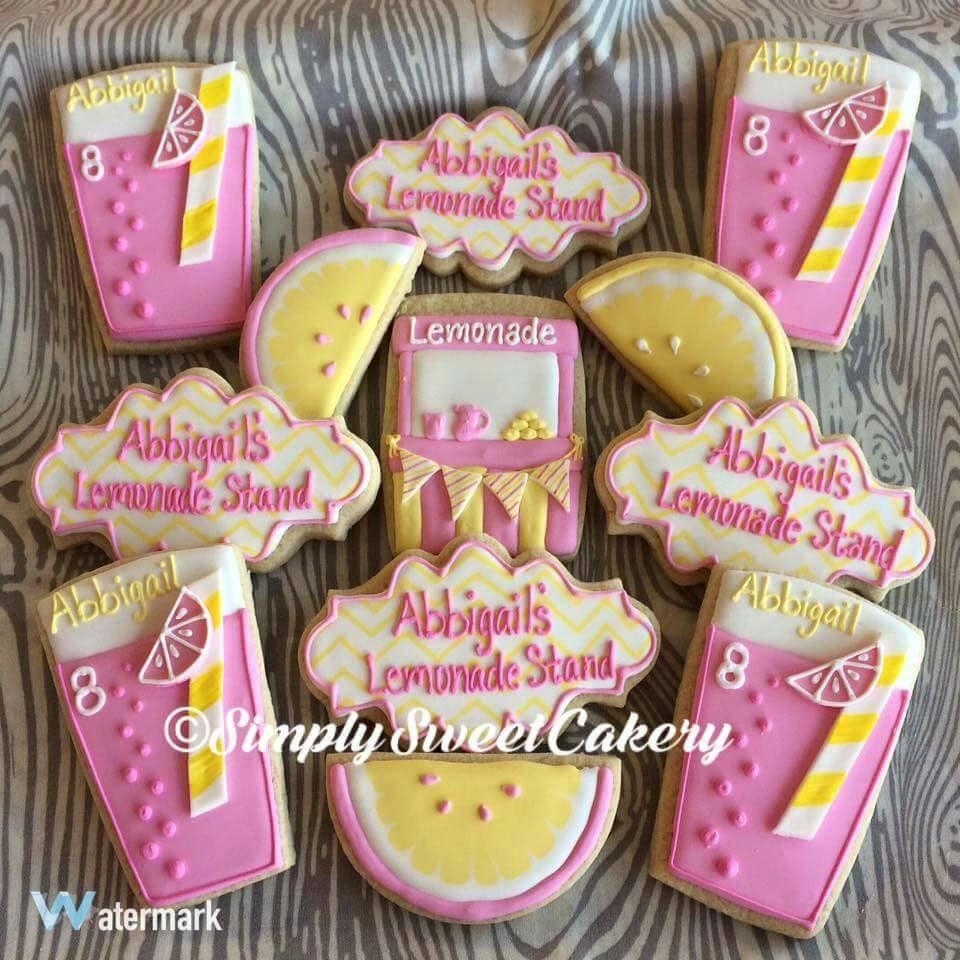 24 lemonade stand cookies   Etsy