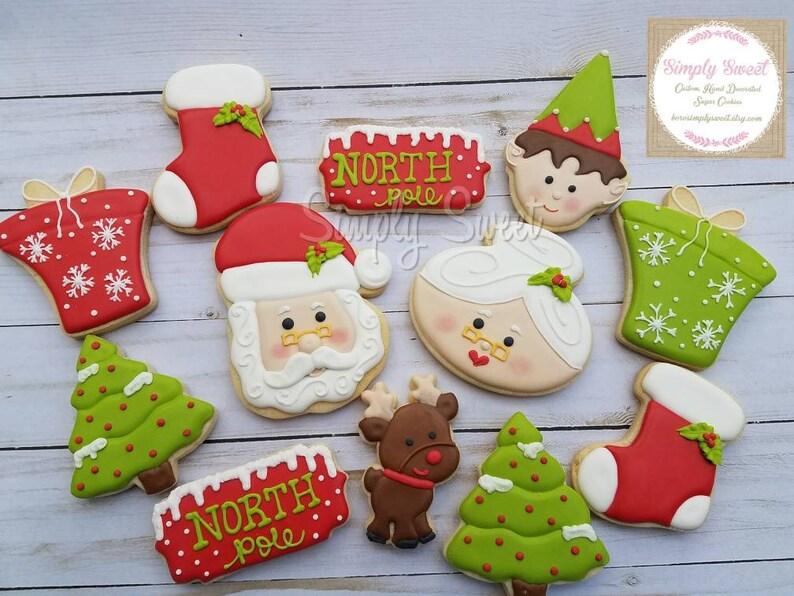North Pole Santa Christmas Cookies