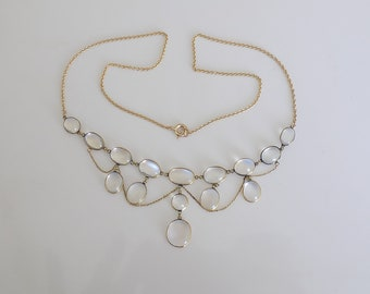 Edwardian Gold and Moonstone Necklace