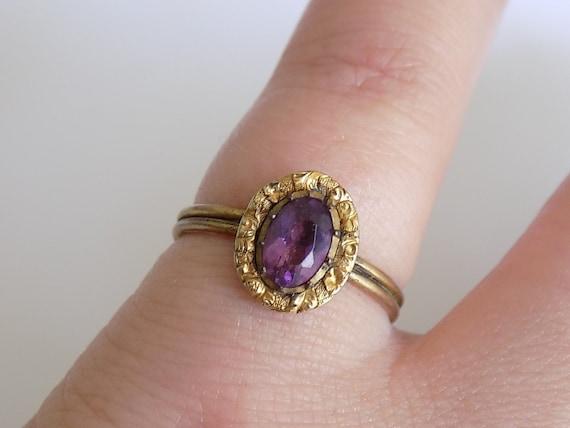 Antique Georgian Amethyst Paste costume ring