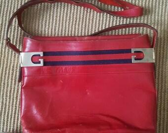 Vintage 1980s Gucci Handbag Red