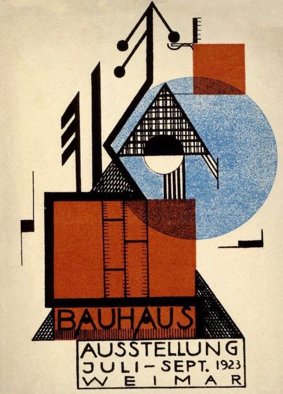 BAUHAUS STYLE WALTER GROPIUS FINE ART A3 POSTER REPRINT