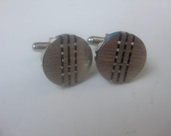 Org. 70 j. round cufflinks - silver