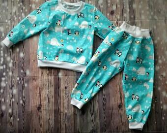 Penguin Pajamas  pajama set   PJ set   easy pull on pjs aca23a91b