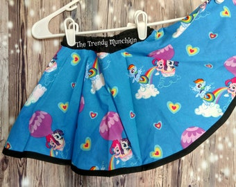 Hello Kitty Skirt Lacey Blue Skirt Swing Skirt Etsy