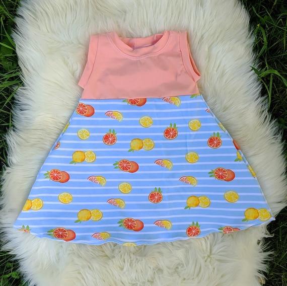 Neon Tie Dye Blast Dress for sizes Preemie to Girls 14