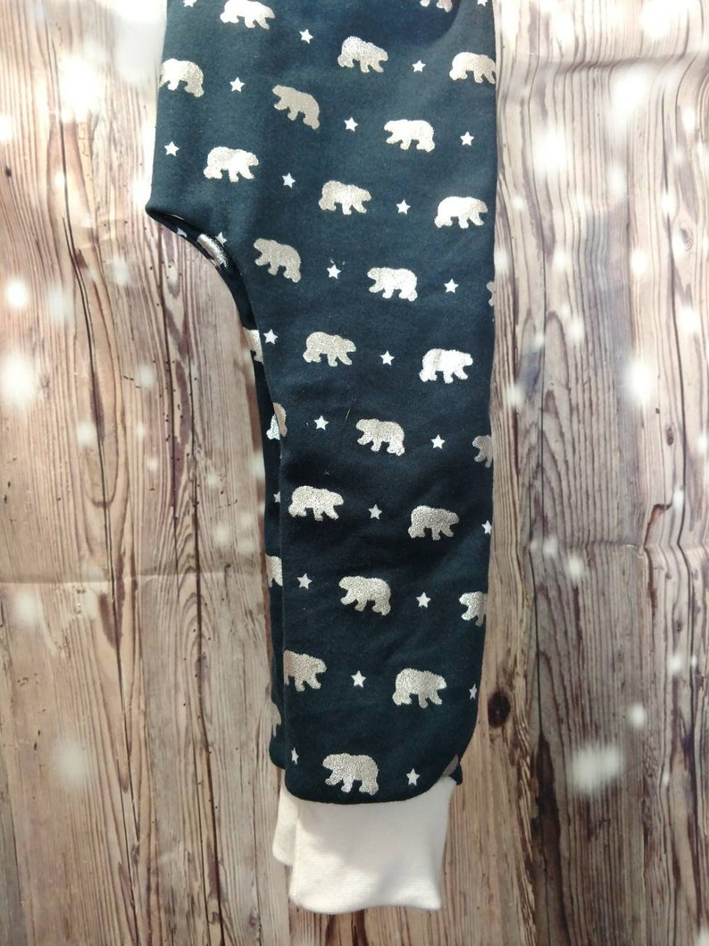 Bear slim harem leggings for baby toddlers and children from size 03 months to 56 years