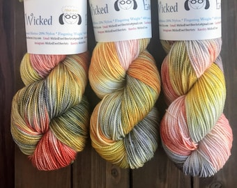 Choose your base - Screamin' Eagles -  Hand-Painted Hand-Dyed Variegated Yarn Skein