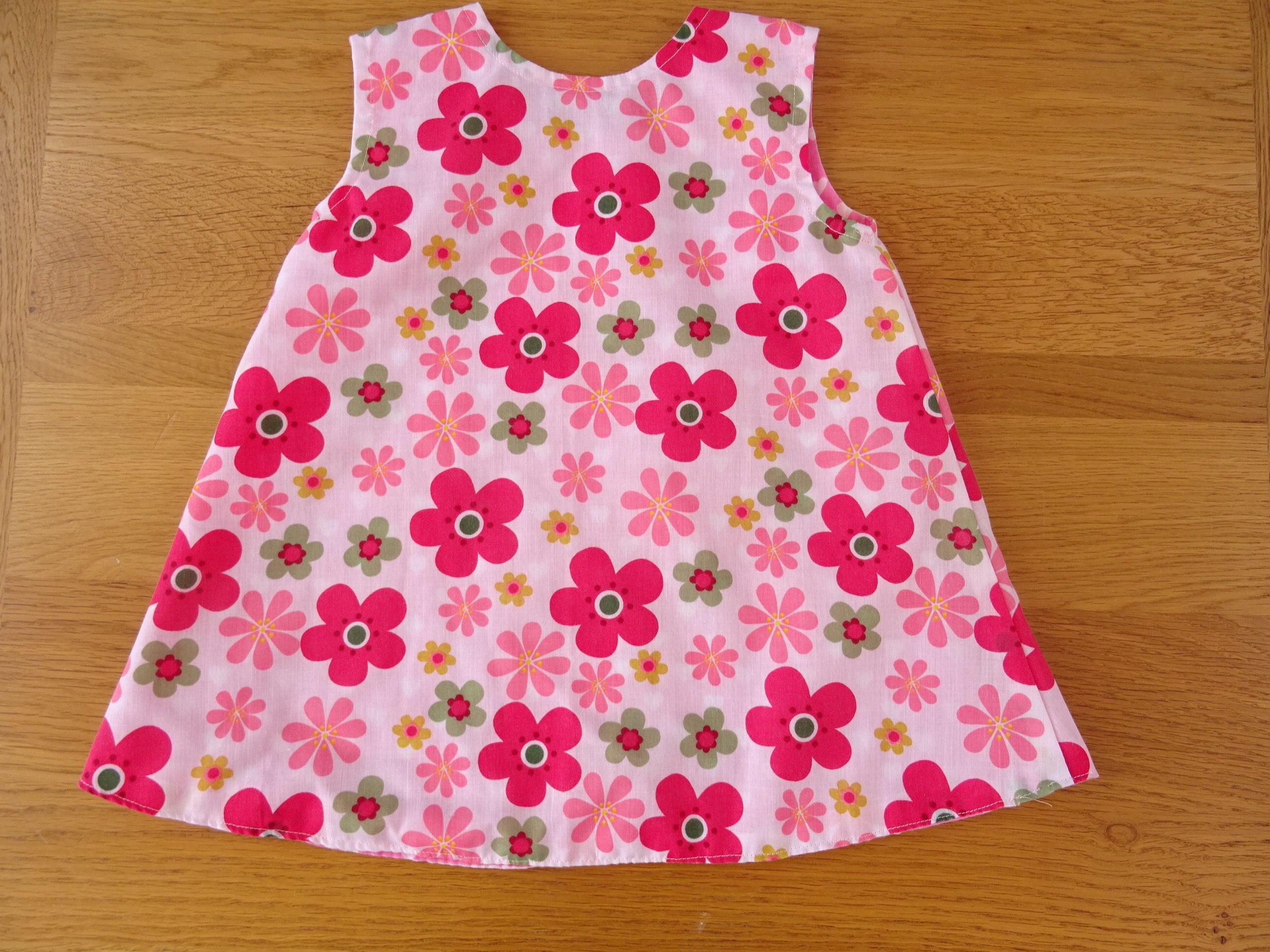 Pink flower reversible girls dress 1 to 2 yrs mightylinksfo