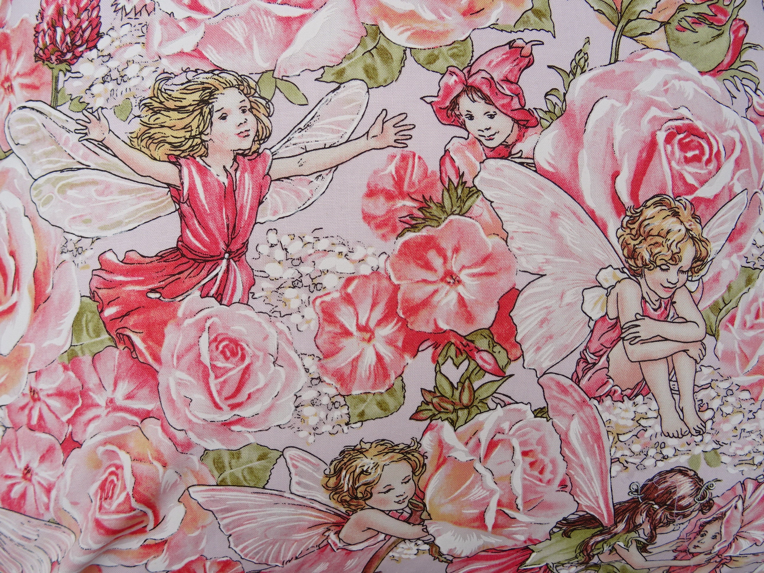 Flower fairies cushion cover 18 inch 46 cm with or without insert flower fairies cushion cover 18 inch 46 cm with or without insert pink fairy cushion mightylinksfo