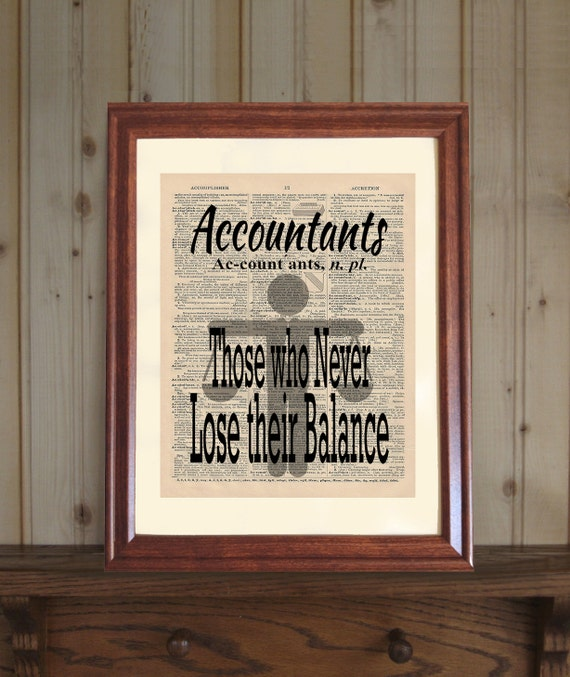 Accountant Dictionary Print Accountant Quote CPA Office | Etsy