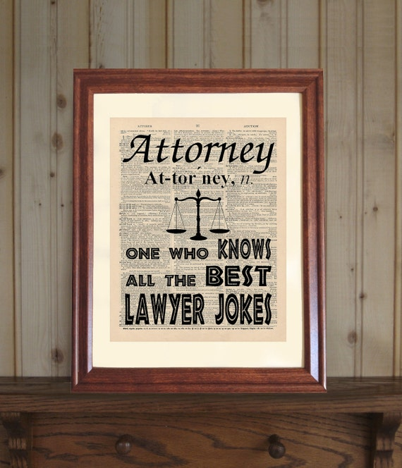 Superbe Attorney Dictionary Print Law Office Decor Law School Grad | Etsy