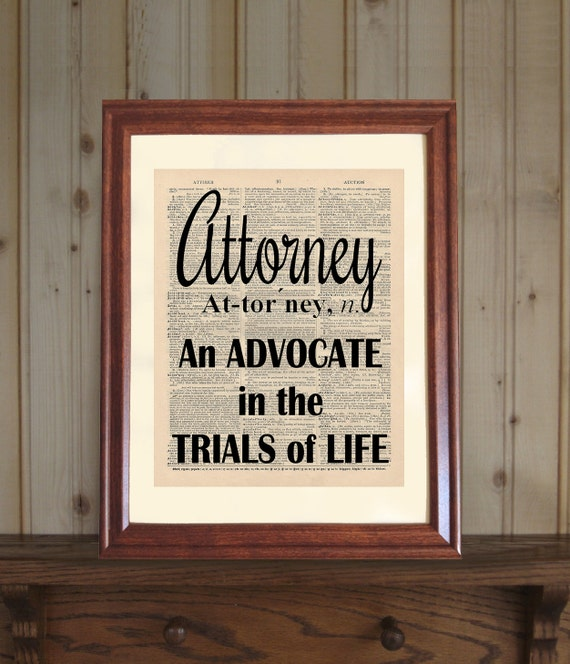 Beau Attorney Dictionary Print Law Office Decor Lawyer Quote | Etsy