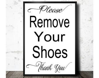 photo regarding Please Remove Your Shoes Sign Printable known as Make sure you Just take Off Your Footwear Outdoors