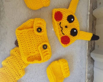 Pikachu inspired baby outfit