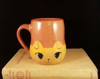Ginger Cat Face Mug