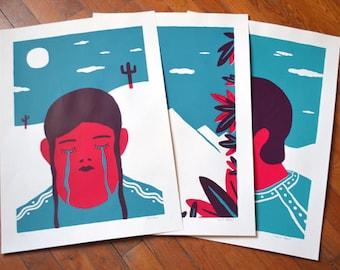 Screen prints / print / Miguel y Rosanna