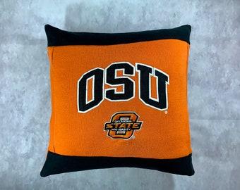 University in State of Oklahoma Recycled Sweatshirt Pillow, Oklahoma College Student Gift, Oklahoma Graduation Gift, Dorm Pillow