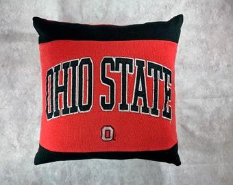 University in Ohio State Recycled Sweatshirt Pillow, Ohio College Student Gift, Ohio Dorm Pillow, Ohio Graduation Gift