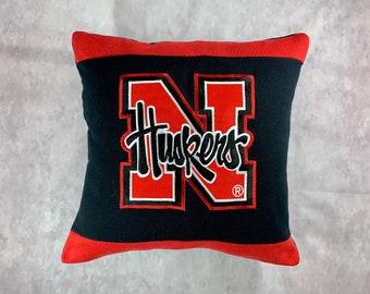 University in Nebraska Recycled Sweatshirt Pillow, Nebraska Dorm Throw Pillow, College Student Gift, Nebraska Graduation Gift