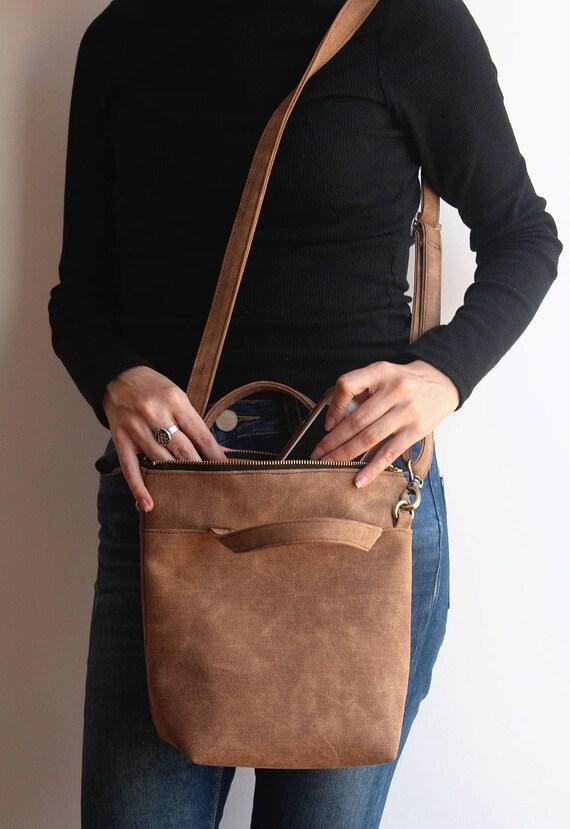 VALENCIA crossbody bag large clutch purse   camel brown bag  23e48ba9e172e