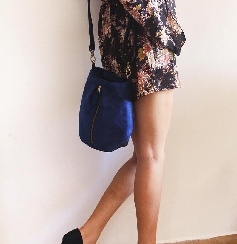 4f126ccb67983 Wenecja torba-worek Blue Crossbody Bag bag niebieski