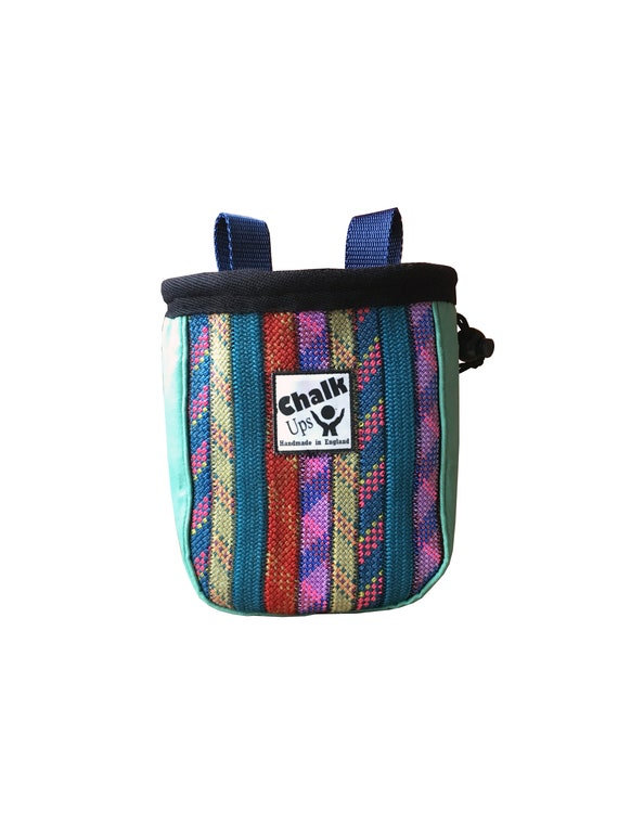 size small rainbowgreen border Rope shops Pursewallet made of disused climbing rope upcycling