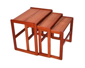 Teak Nesting Tables Etsy